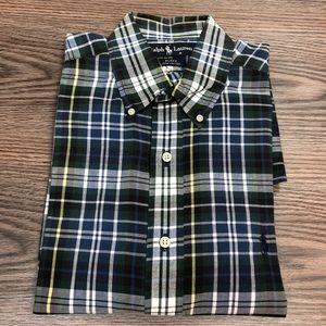 Polo Ralph Lauren Green & Navy Plaid Shirt L